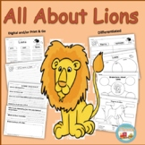 All About Lions, Writing Prompts, Graphic Organizers, Diagram