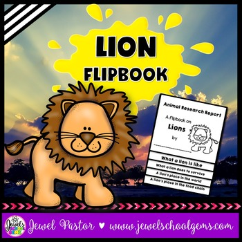 Lion Science Activities (Lion Research Flipbook)