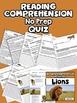 Reading Comprehension Passages Lions