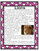 Lions Informational Mini-Unit: nonfiction texts, research, graphic organizers