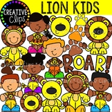 Lions Kids {Creative Clips Clipart}