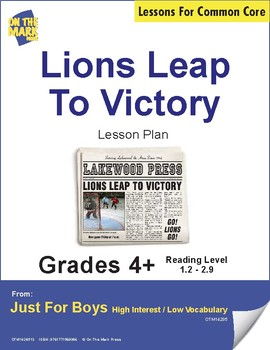 Lions Leap to Victory (Fiction - Newspaper Report) Reading Level 2.7
