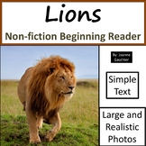 Lions: Non-fiction animal e-book for beginning readers