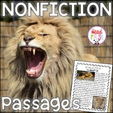 Lions Nonfiction Guided Reading Comprehension and Fluency Passages