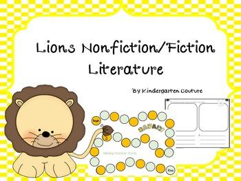 Lions Nonfiction/Fiction Literature