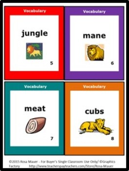 Lions Poem and Literacy Activities