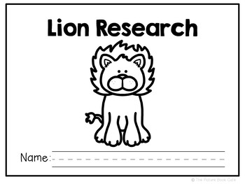 Lions-Animal Research Report and Informational Reader