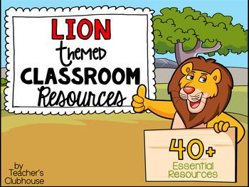 Lions Theme Decor Pack