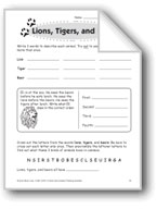 Lions, Tigers, and Bears (Thinking Skills)