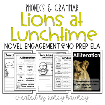 Lions at Lunchtime NO PREP (ELA)