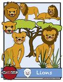 Lions cliparts