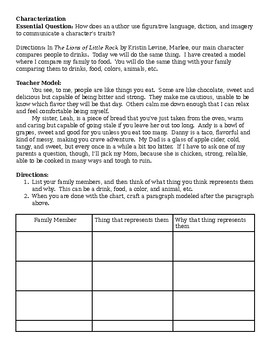 Lions of Little Rock Figurative Language Assignment