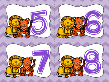 Lions supply tags  and numbers 1-24 in Spanish