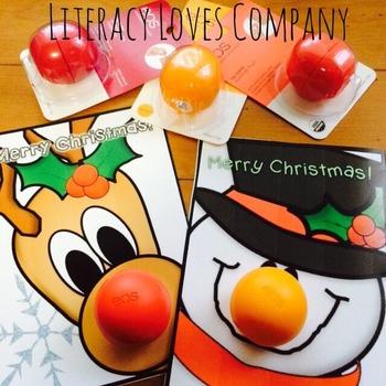 Lip Balm Christmas Card FREEBIE