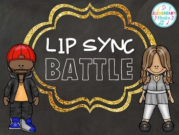 Lip Sync Battle - A Fun Music Activity FREEBIE