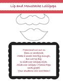 Lip and Moustache Lollipop Valentines