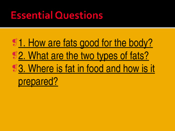 Fats Power Point