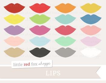 Lips Clipart; Lipstick, Beauty, Cosmetics