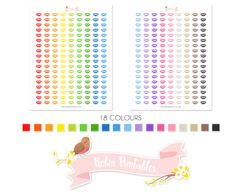 Lips Printable Planner Stickers