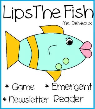 Lips The Fish Emergent Reader