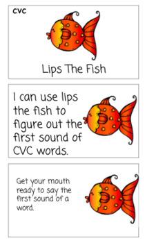Lips the Fish CVC Task Cards