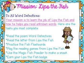 Lips the Fish Reading and Decoding Strategy Activities for Guided Reading
