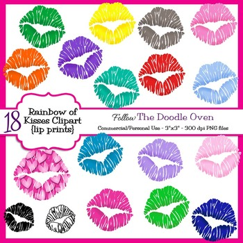 Lips - Lip Print Clipart
