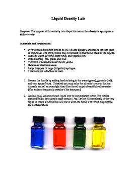 Liquid Density Lab