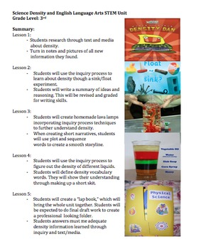 Density and Literacy Unit Preview