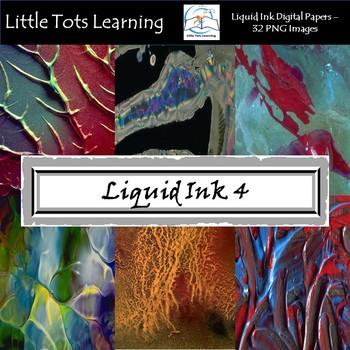 Liquid Ink Digital Papers - Liquid Ink Backgrounds - Set 4