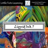 Liquid Ink Digital Papers - Liquid Ink Backgrounds - Set 7