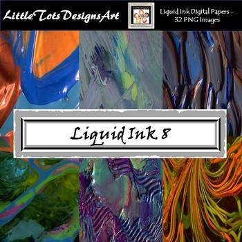Liquid Ink Digital Papers - Liquid Ink Backgrounds - Set 8
