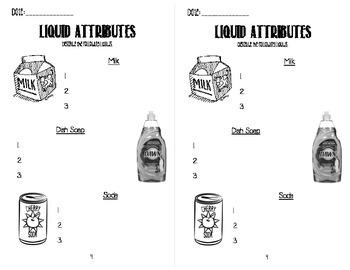 Liquid Investigation Interactive Notebook