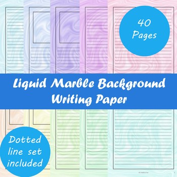 Liquid Marble Background Writing Paper