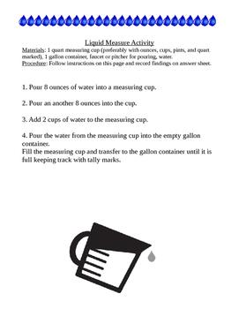 Liquid Measure Activity