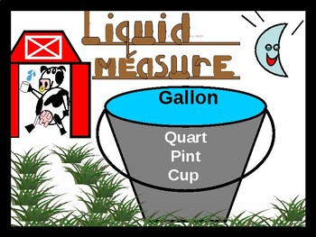Authored Story:  Liquid Measure-  gallon, quart, pint, cup