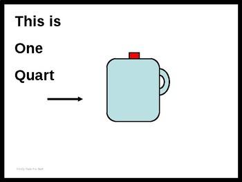 Authored Story:  Liquid Measure-  gallon, quart, pint, cup