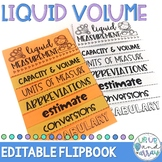 Liquid Measurement (Capacity & Volume) Flipbook- EDITABLE!