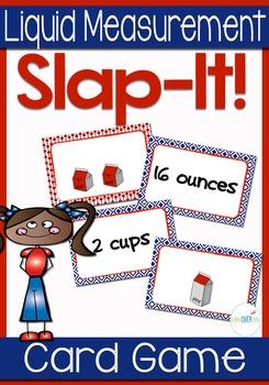 """Liquid Measurement: Cups, Pints, Quarts, Gallons """"Slap-It"""""""