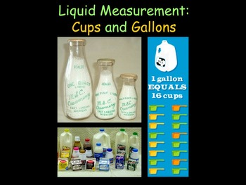 Liquid Measurement: Cups and Gallons