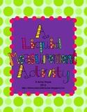 Liquid Measurement Girl / Boy Activity