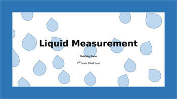 Liquid Measurement Matching Cards