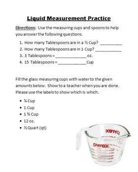 Measuring with liquid measuring cups | Cool for School | Pinterest ...