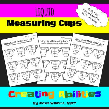 liquid measuring cups by teaching special ed with mrs williams tpt. Black Bedroom Furniture Sets. Home Design Ideas