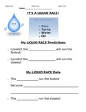 Liquid Race Experiment - Testing Viscosity