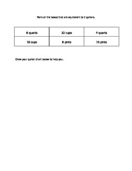 Math VA SOL 4th Liquid Volume (Customary)