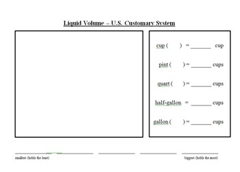 Liquid Volume Guided Note Page - US Customary System