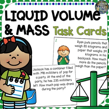 Liquid Volume and Mass Task Cards