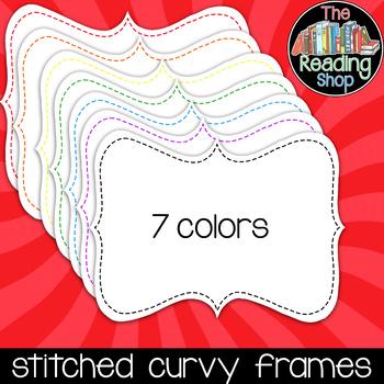 Curvy Stitched Frames