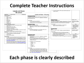 Liquids and Gases - 5E Lesson Bundle